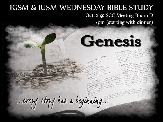 2013-10-02 Genesis Bible Study