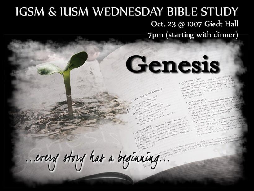 2013-10-23 Genesis Bible Study