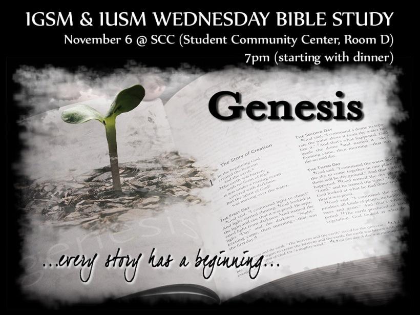2013-11-06 IGSM IUSM Bible Study