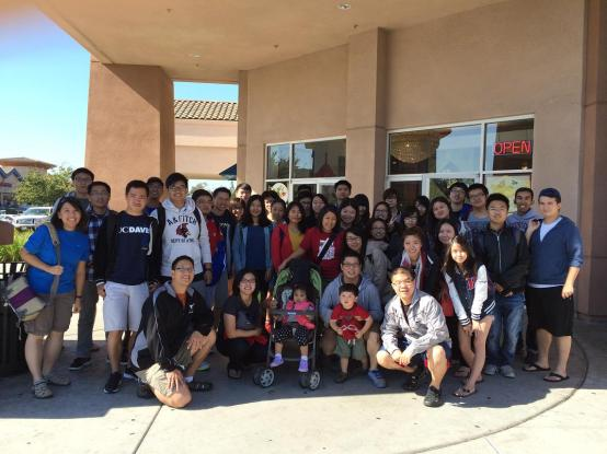 A group photo after dimsum in Sacramento
