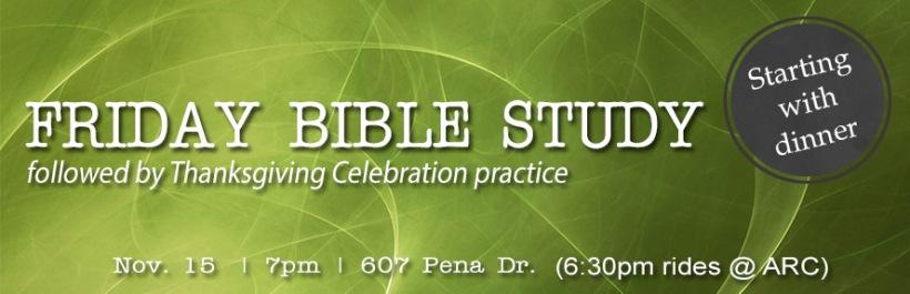 2013-11-15 IGSM IUSM Bible Study