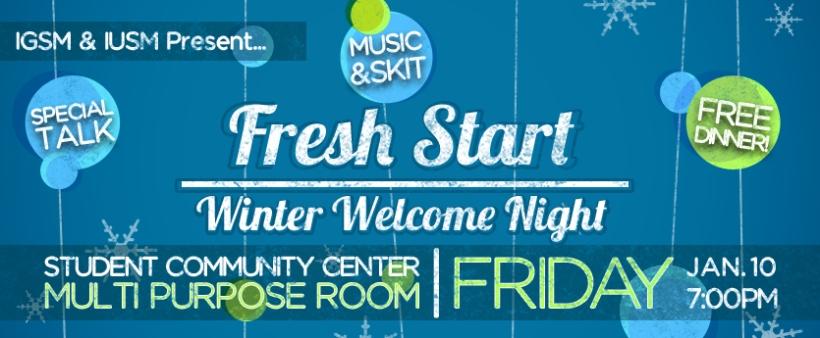 2014-01-10 IGSM IUSM Fresh Start