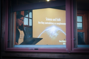 Many different workshops were offered, like Science And Faith