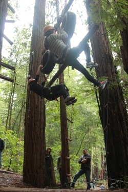 Who knew there would be obstacle courses at the retreat!